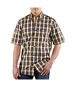 Men's Essential Plaid Button Down Short-Sleeve Shirt