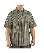 Men's Essential Plaid Open Collar Short-Sleeve Shirt