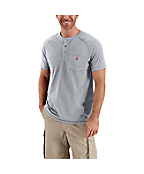Men�s Force™ Cotton Short-Sleeve Henley