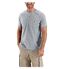 Men's Force Cotton Short-Sleeve Henley