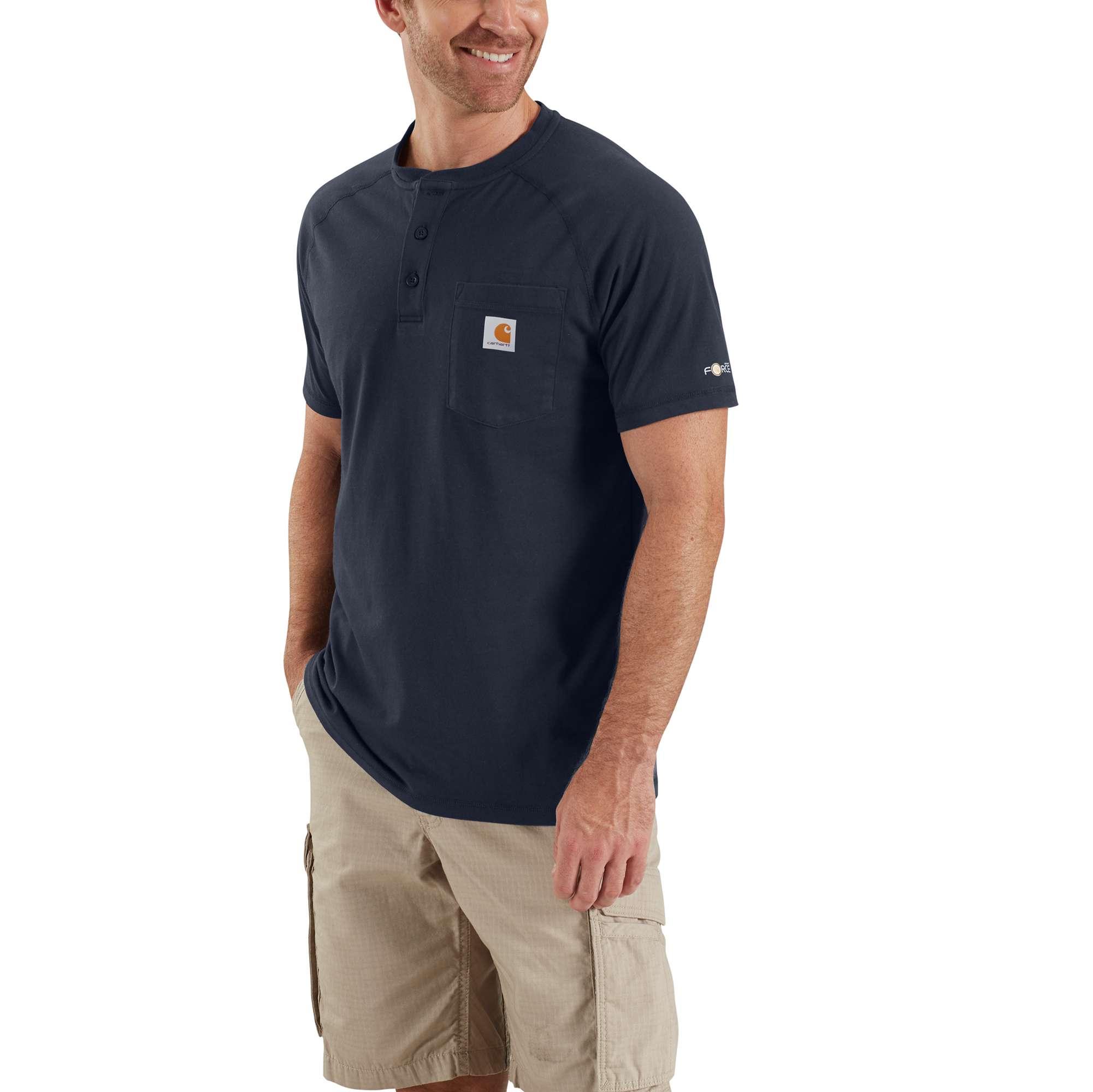 Carhartt Carhartt Force Cotton Delmont Short-sleeve Henley