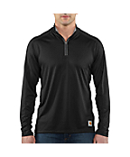 Men's Carhartt Force® Long-Sleeve Quarter Zip T-Shirt