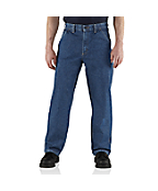 Men's Flame-Resistant Utility Denim Dungaree Jean