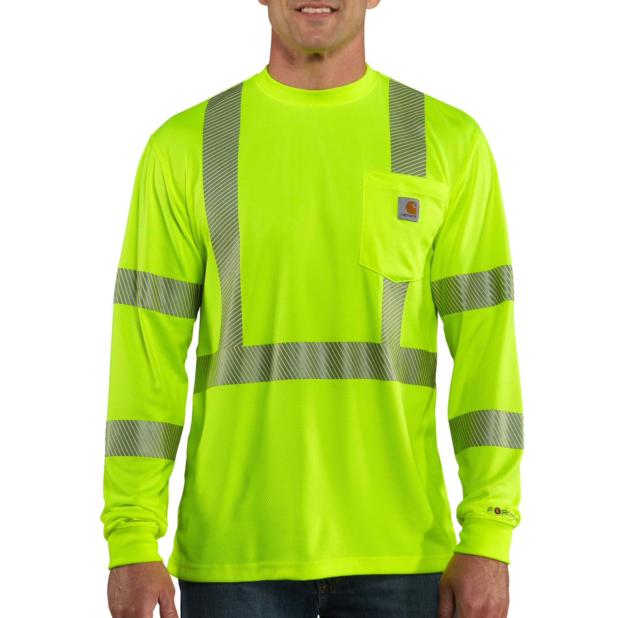 Carhartt Carhartt Force High-visibility Long-sleeve Class 3 T-shirt