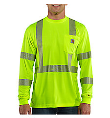 Men's Carhartt Force® High-Visibility Long-Sleeve Class 3 T-Shirt
