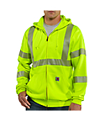 Men's High-Visibility Zip-Front Class 3 Sweatshirt