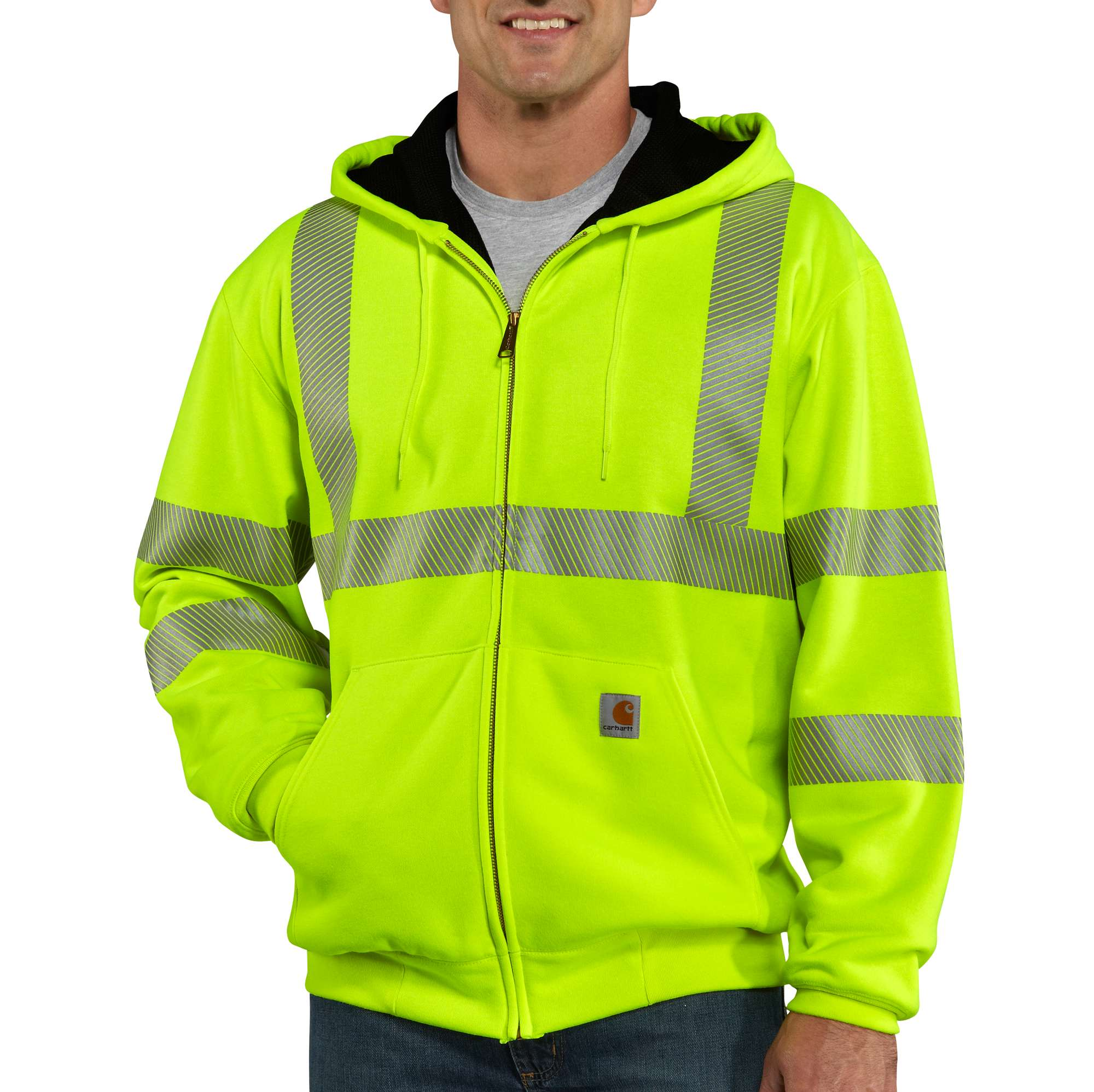 Carhartt High-Visibility Zip-Front Class 3 Thermal-Lined Sweatshirt