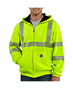 Men�s High-Visibility Zip-Front Class 3 Thermal-Lined Sweatshirt