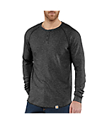 Men's Lightweight Thermal Knit Henley Relaxed Fit