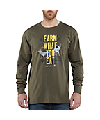 Men's Graphic Earn What You Eat Long-Sleeve T-Shirt