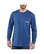 Men's Graphic Fish Pocket Long-Sleeve T-Shirt