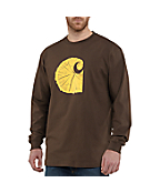 Men's Graphic Tree Stump Long-Sleeve T-Shirt