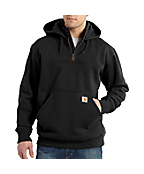 Men's Paxon Heavyweight Hooded Zip Mock Sweatshirt
