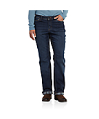 Women's Relaxed-Fit Denim Flannel-Lined Boone Jean
