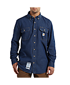 Men's Flame-Resistant Washed Denim Shirt