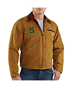 Men's Michigan State Sandstone Detroit Jacket/Blanket Lined