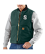 Men's Michigan State Sandstone Vest/Arctic-Quilt Lined