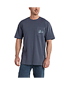 Men's Workwear Graphic Bricks Pocket Short-Sleeve T-Shirt