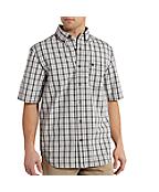 Men's Essential Plaid Button Down Short-Sleeve Shirt
