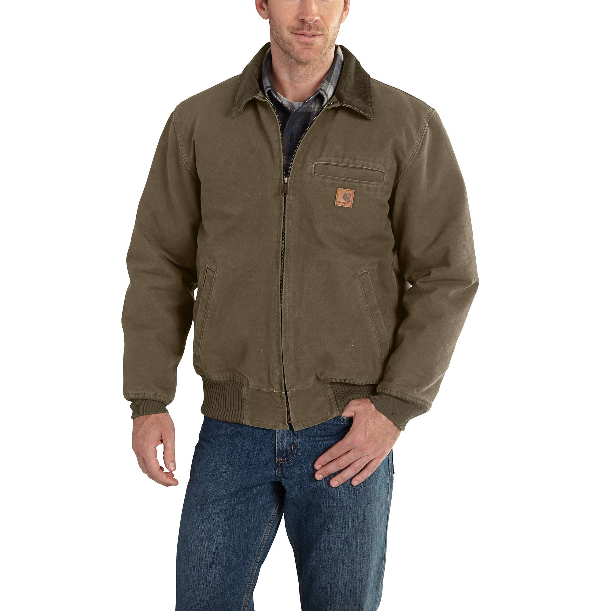Carhartt Bankston Quilted Flannel-Lined Bomber Jacket