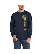 Men's Maddock Graphic Vertical Camo Long-Sleeve T-Shirt