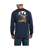 Men's Workwear Graphic Elk Long-Sleeve T-Shirt