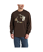 Men's Workwear Graphic Camo Accent Long-Sleeve T-Shirt