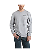 Men's Workwear Graphic Block Long-Sleeve T-Shirt