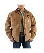 Men's Auburn University Weathered Chore Coat
