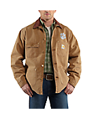 Men's Clemson Weathered Chore Coat
