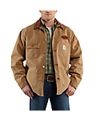 Men's Oklahoma St Weathered Chore Coat