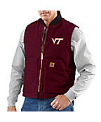 Men's Virginia Tech Sandstone Vest/Arctic-Quilt Lined