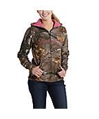 Women's Clarksburg Camo Zip-Front Sweatshirt