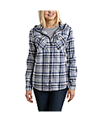 Women's Belton Hooded Flannel Shirt