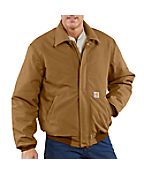 Men's Flame-Resistant Duck Bomber Jacket/Quilt-Lined