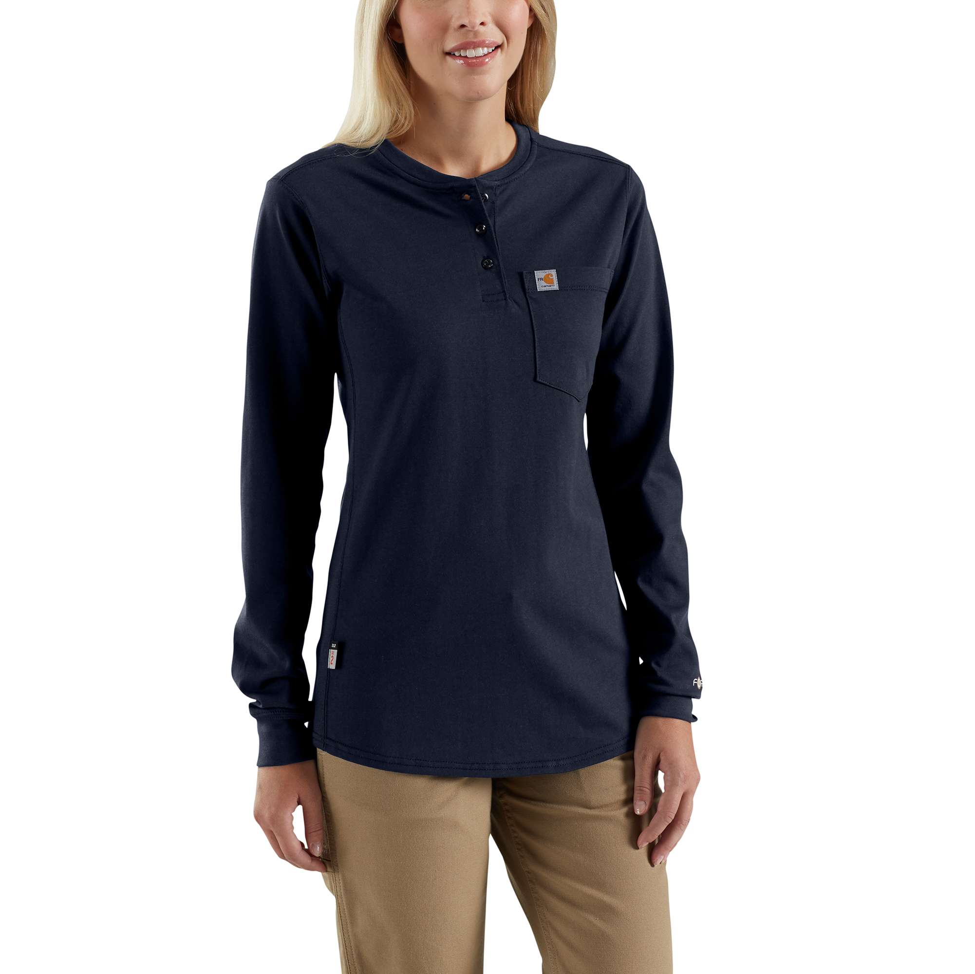 Carhartt Women's FR Force Cotton Long-Sleeve Henley