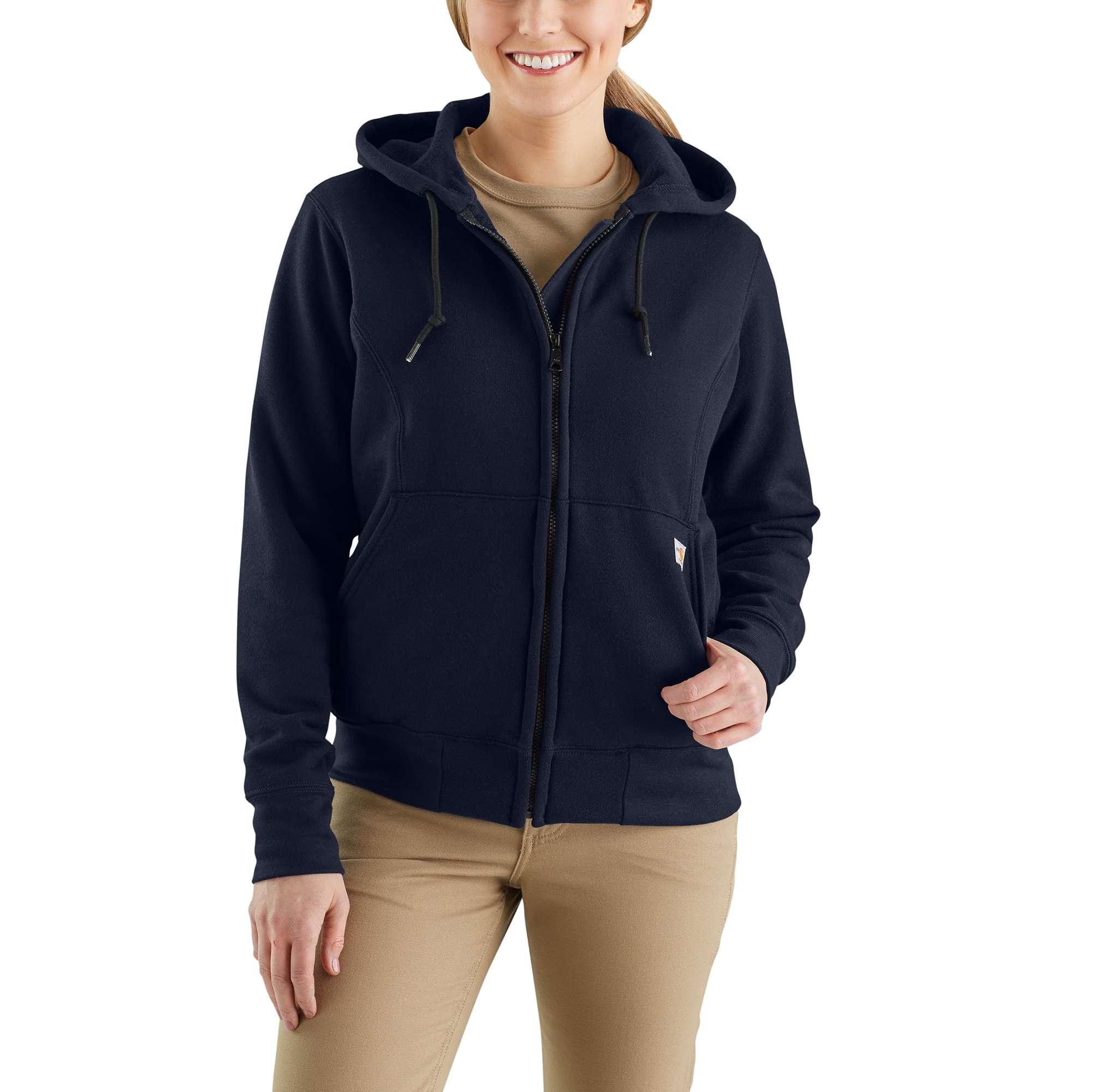 Carhartt Flame-Resistant Rain Defender Hooded Heavyweight Zip-Front Sweatshirt