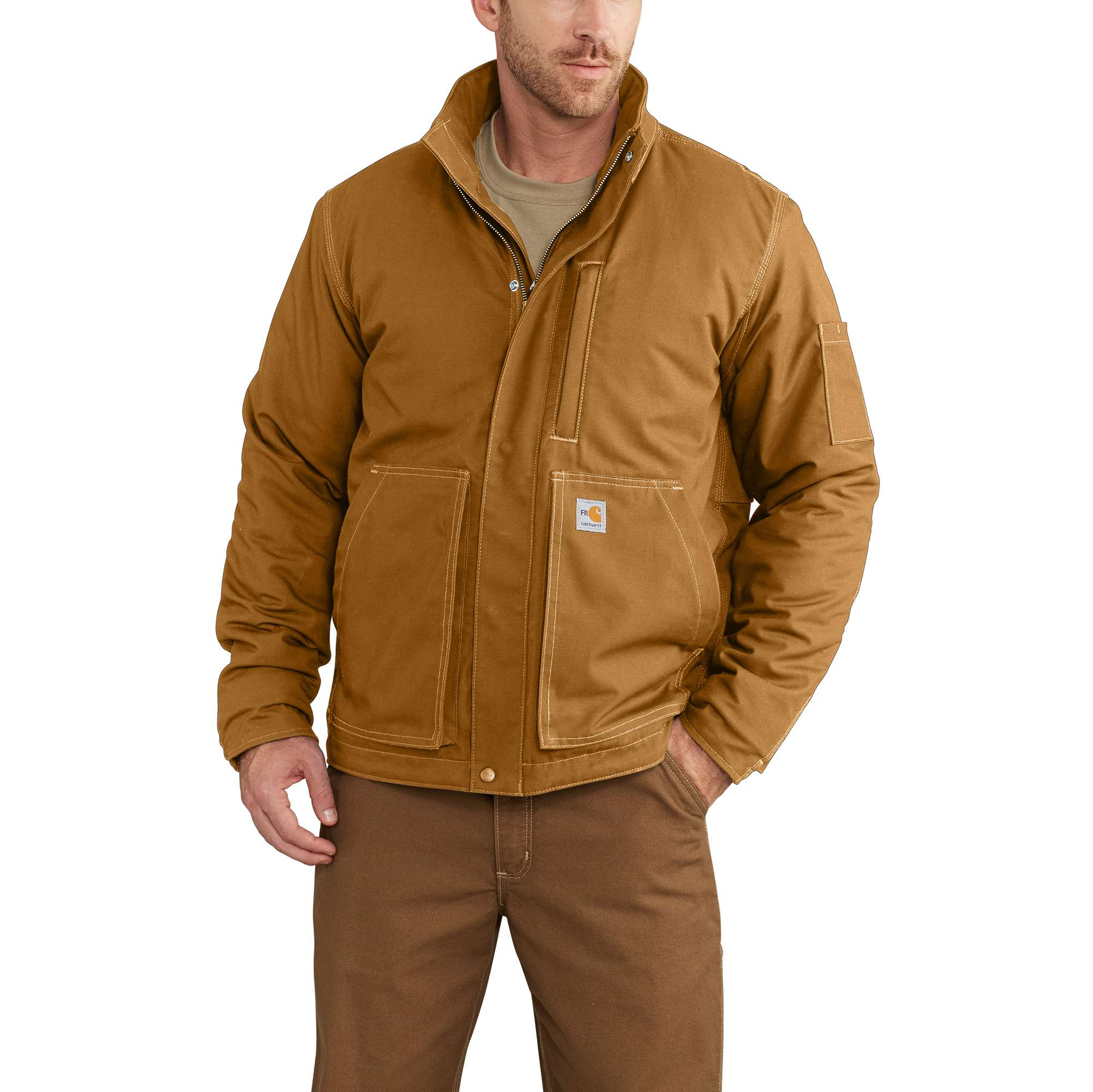 Carhartt Full Swing Quick Duck Flame-Resistant Lanyard Access Jacket