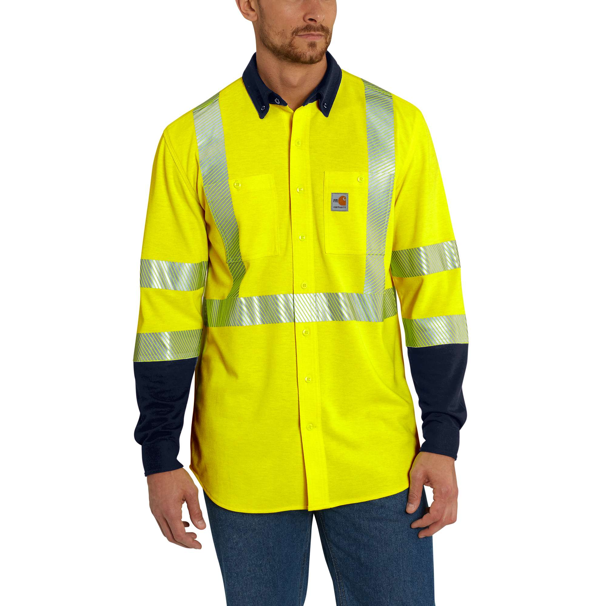 Carhartt Flame-Resistant High-Vis Force Hybrid Shirt