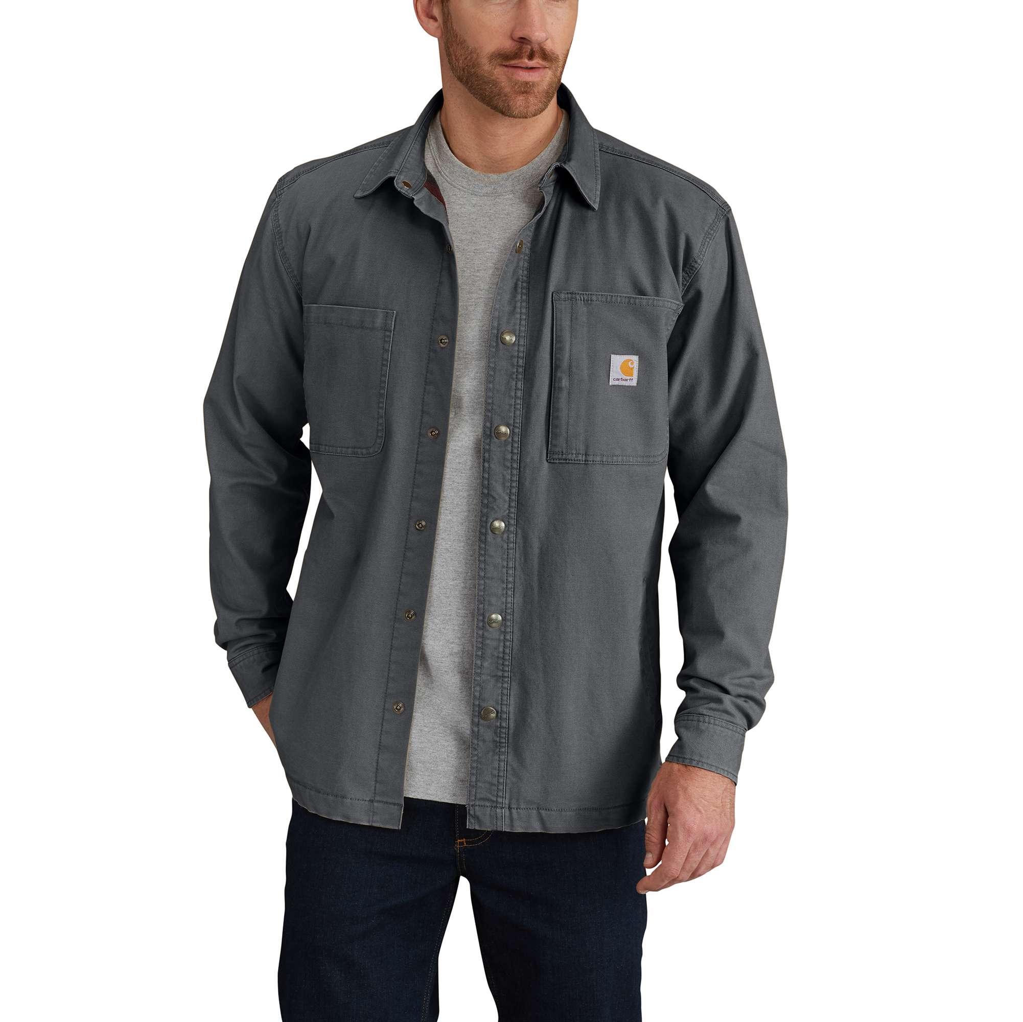 Carhartt Rugged Flex Rigby Shirt Jac/Fleece-Lined