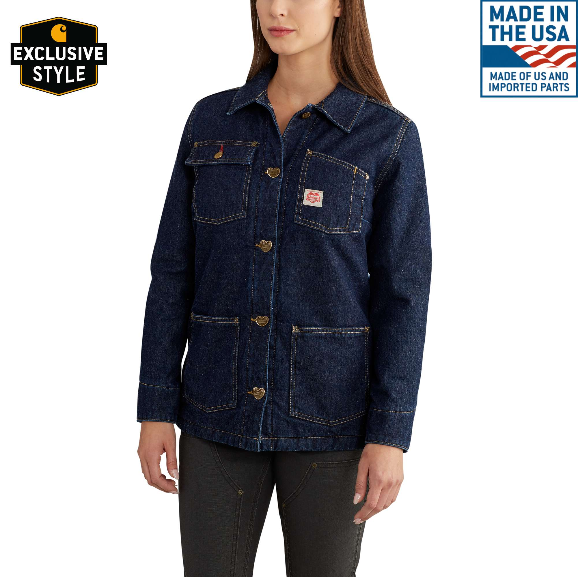 Carhartt Women's Heritage Denim Chore Coat Size: XL