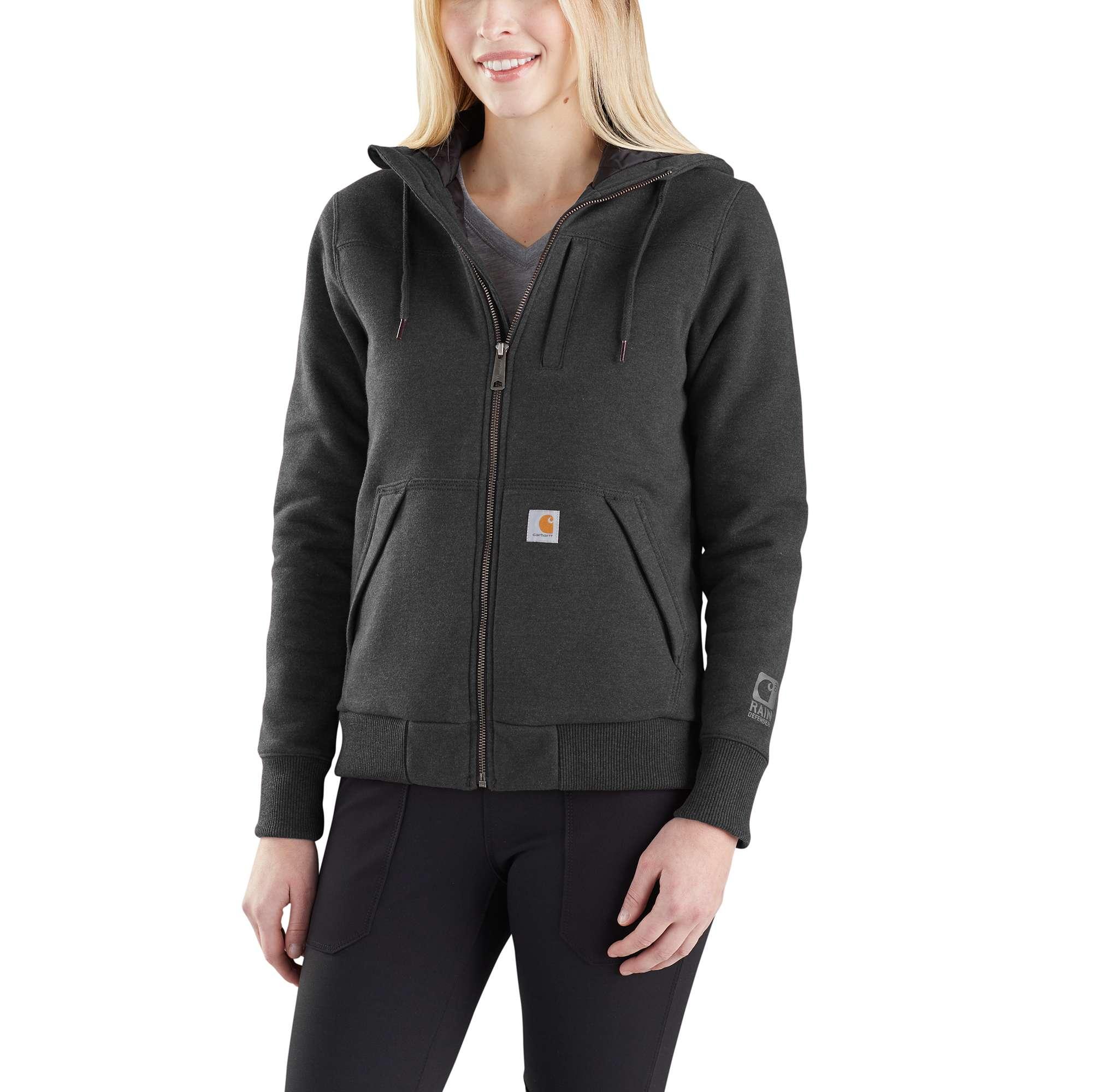 Carhartt Rain Defender Rockland Quilt-Lined Full-Zip Hooded Sweatshirt