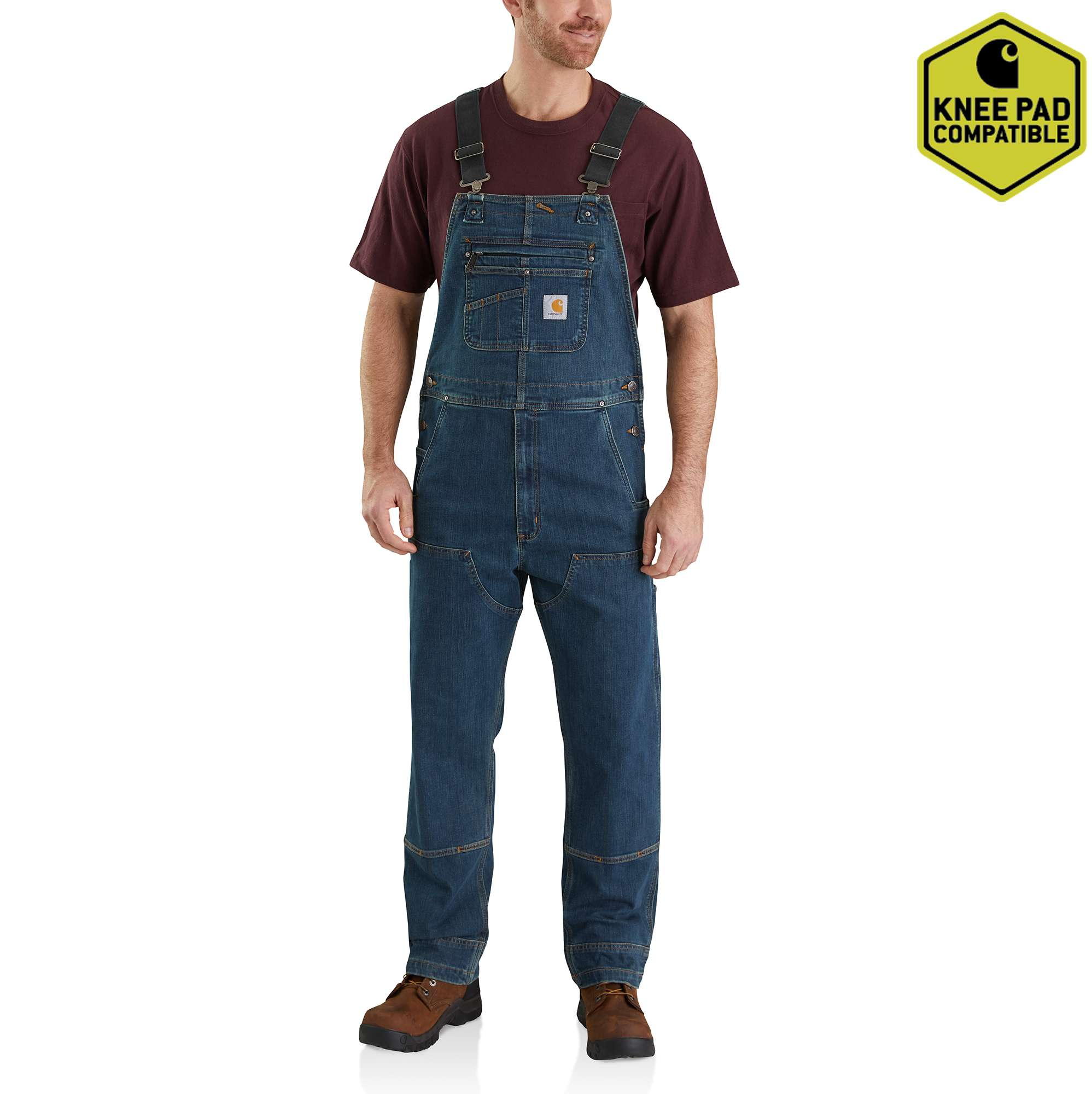 Carhartt Rugged Flex Denim Bib Overalls