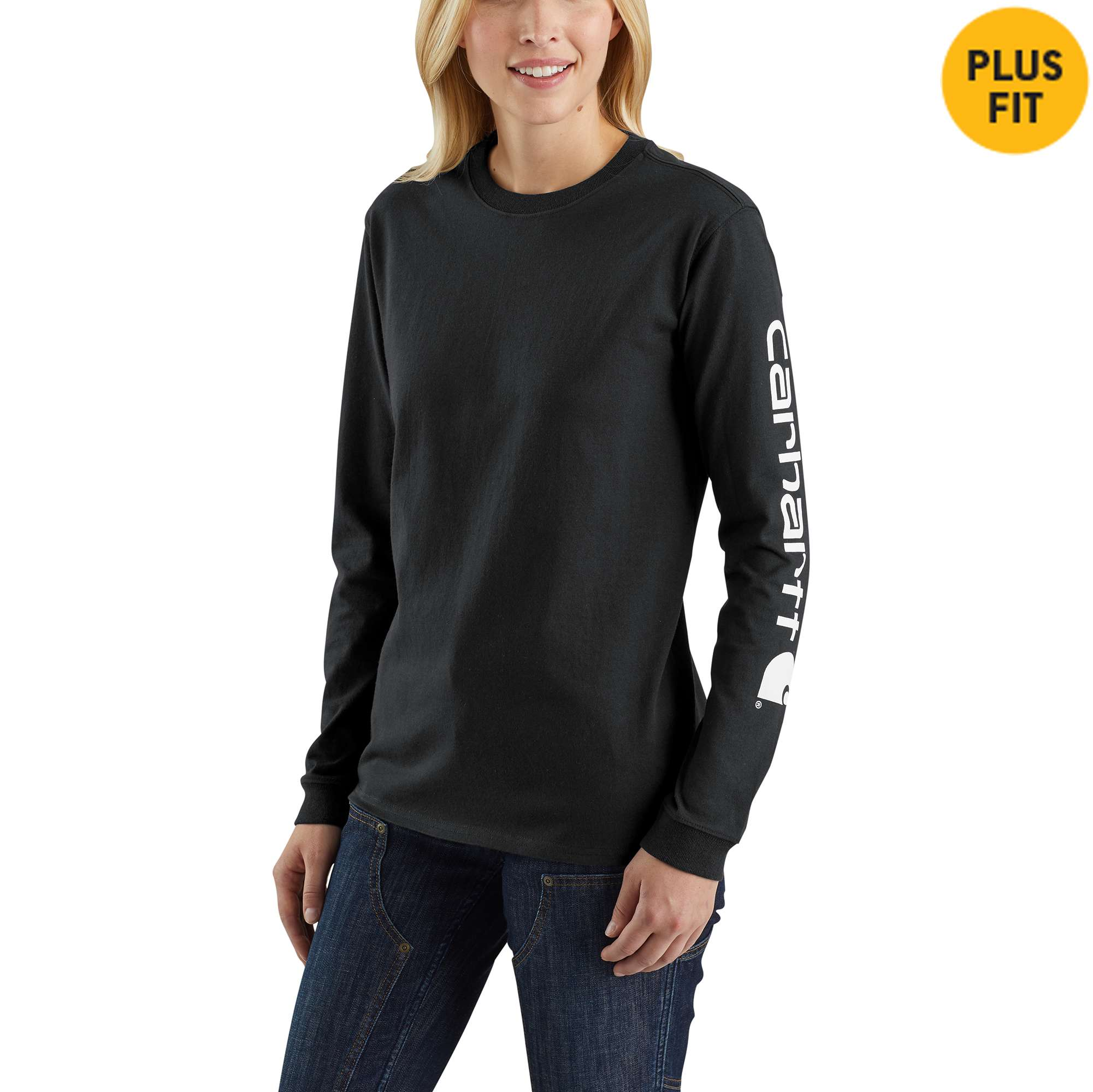 WK231 Workwear Sleeve Logo Long-Sleeve T-Shirt