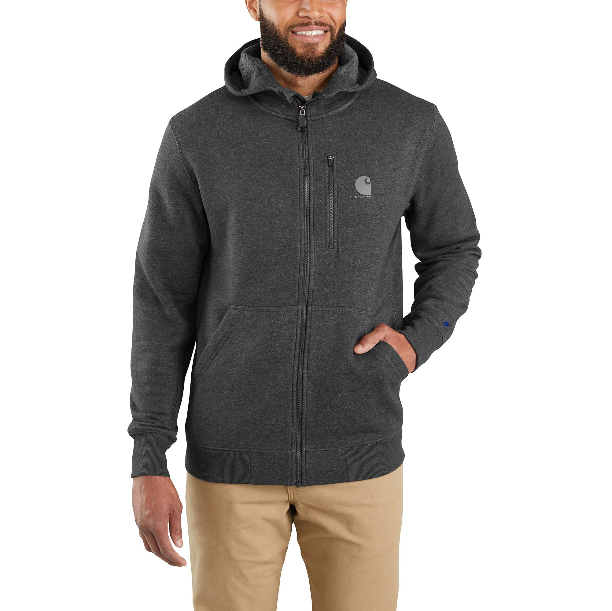 Carhartt Force Delmont Graphic Full-Zip Hooded Sweatshirt