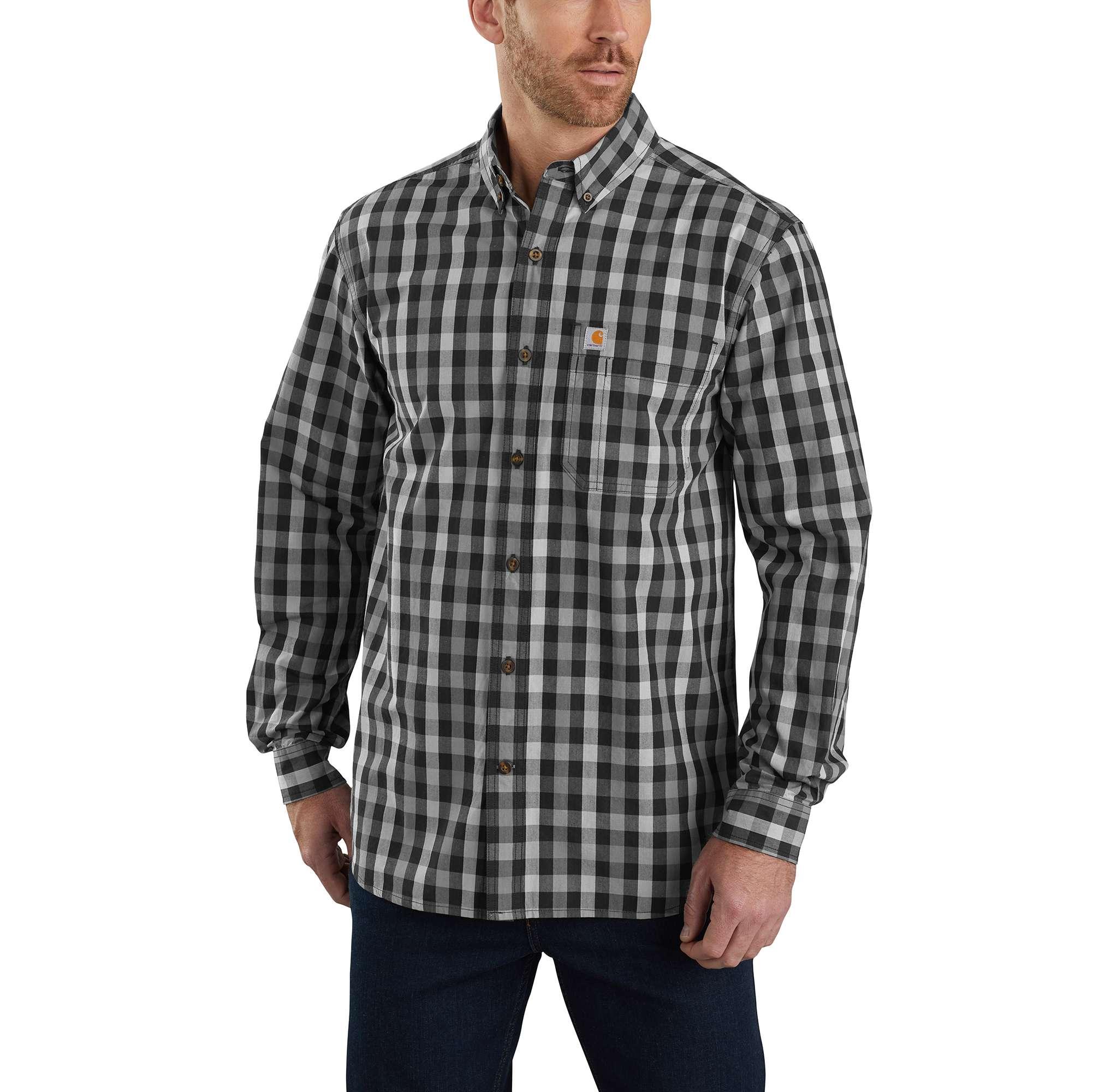 Carhartt Essential Plaid Button Down Long-Sleeve Shirt