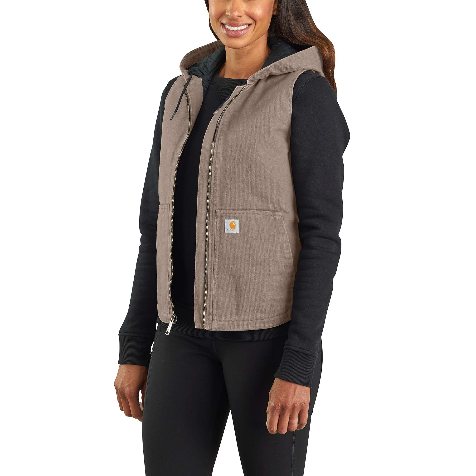 Carhartt Washed Duck Insulated Hooded Vest