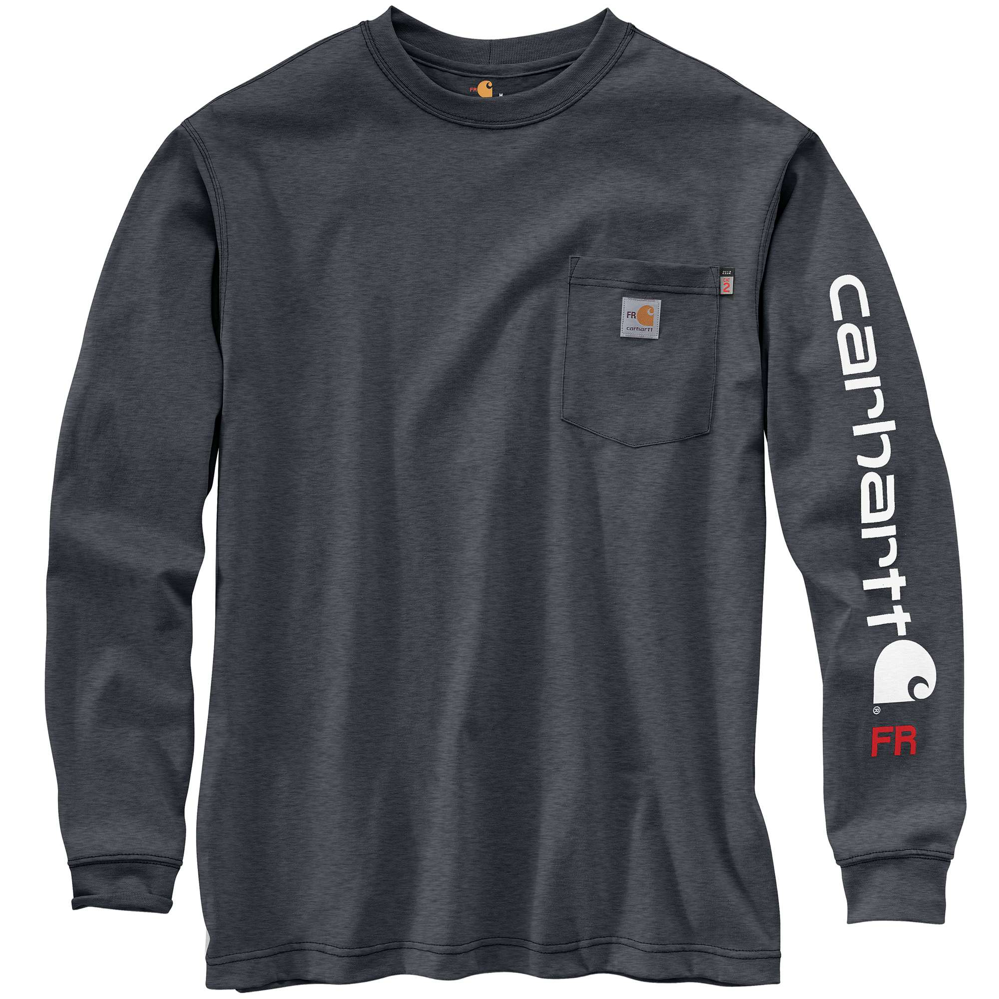 Carhartt FR Force Original Fit Midweight Long-Sleeve Signature Logo T-Shirt