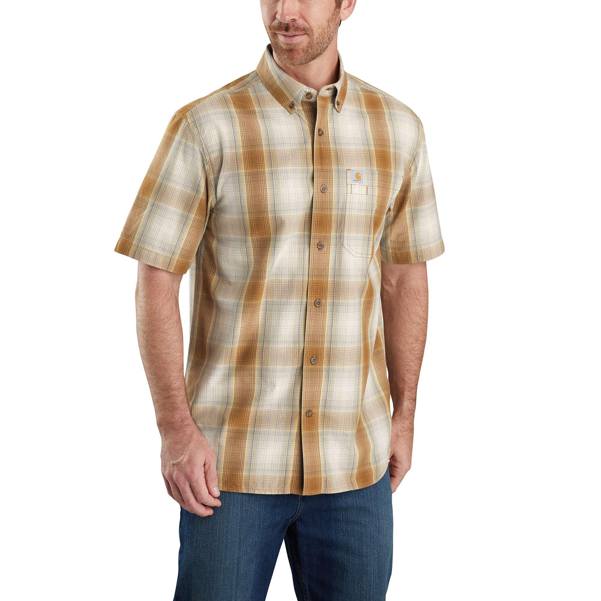 Carhartt Relaxed Fit Lightweight Short-Sleeve Button-Front Plaid Shirt