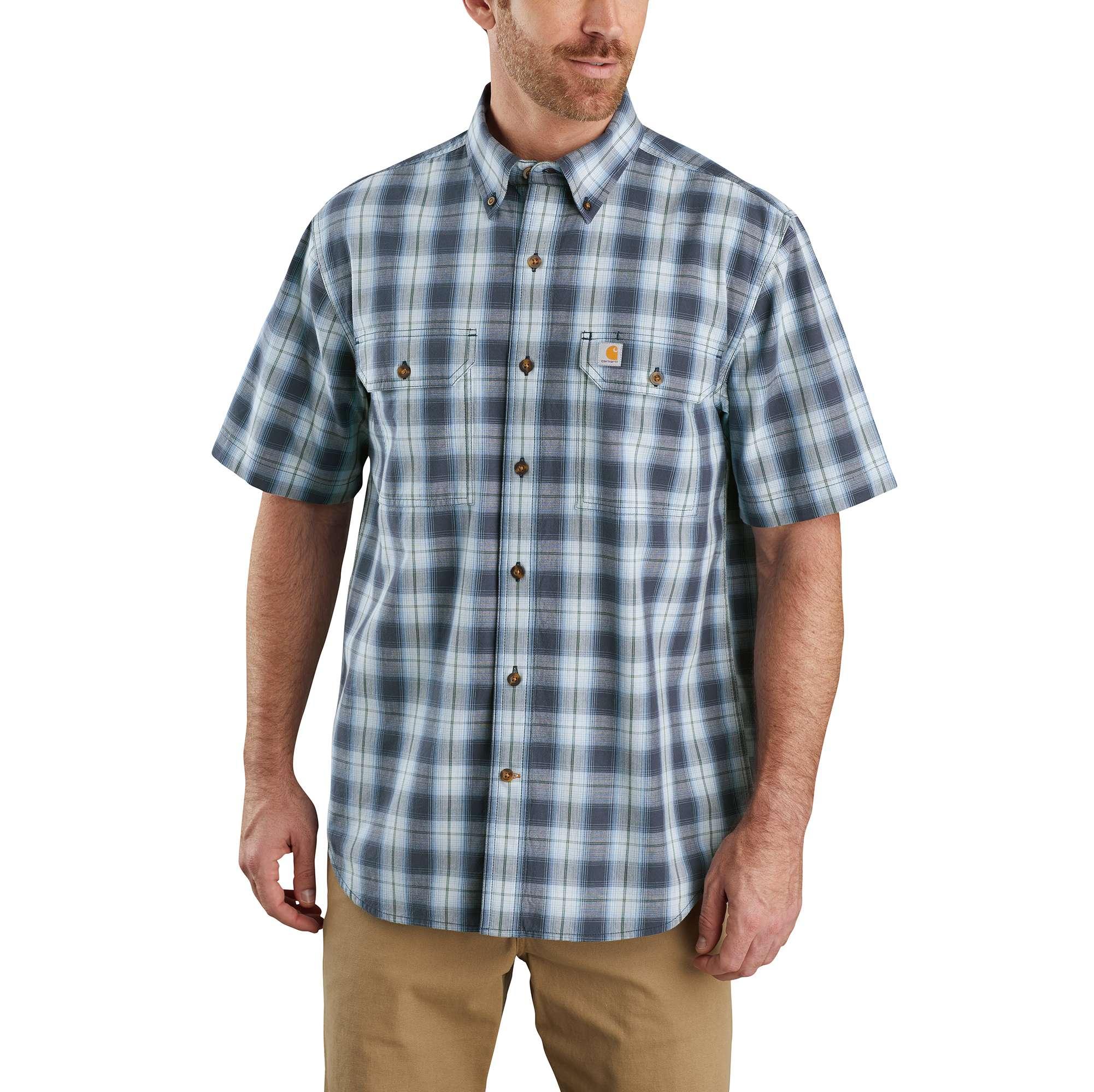 Carhartt Original Fit Midweight Short-Sleeve Button-Front Plaid Shirt